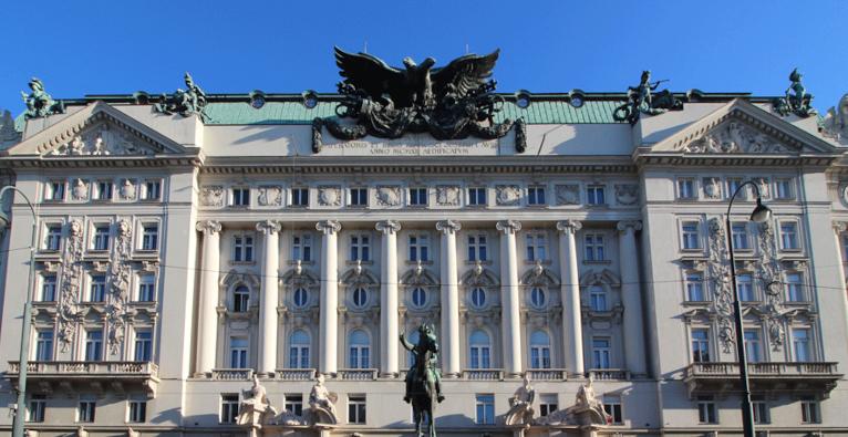 Das Gebäude des Bundesministeriums für Digitalisierung und Wirtschaftsstandort