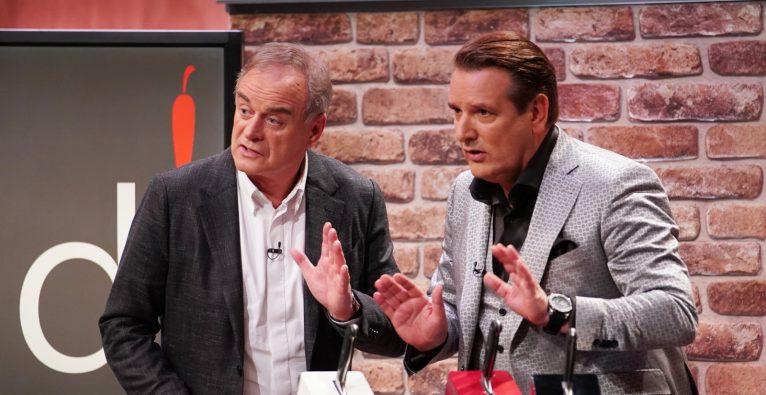 Georg Kofler (l.) und Ralf Dümmel in der TV-Show