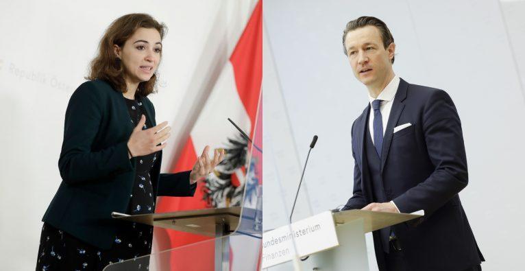 Nach der Steuerreform: Das neue Startup-Paket entsteht primär in den Ressorts von Justizministerin Alma Zadic und Finanzminister Gernot Blümel